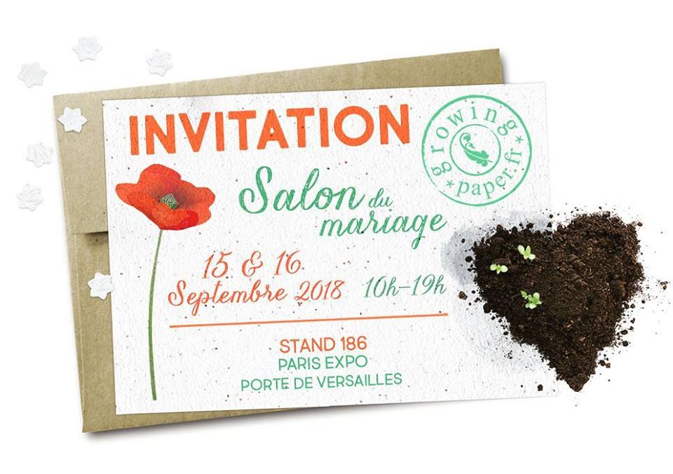 invitation Porte de Versailles Paris stand 186 Growing paper france