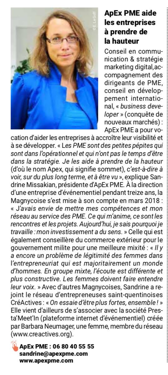 article Journal Magny les Hameaux ApEx PME