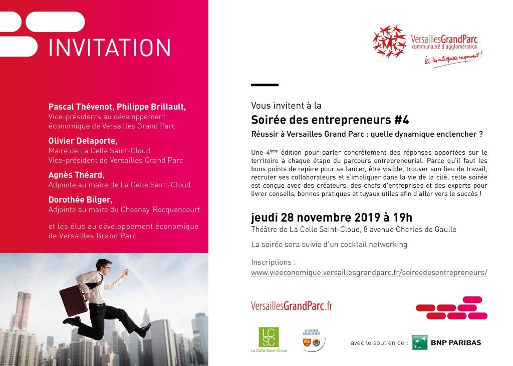 Soirée des entrepreneurs réussir à Versailles Grand Parc : Quelle dynamique enclencher ?